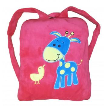 """Детский плед рюкзак """"Жирафик"""" 110*150 см. материал: велюр и микрофибра"""
