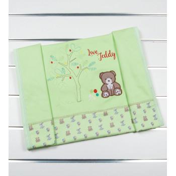 Плед Маленьке Солнышко Мишка Салатовый Интерлок 80 * 80 см для новорожденных