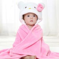 """Детское розовое полотенце для девочек """"Котик"""". Производитель: Китай"""