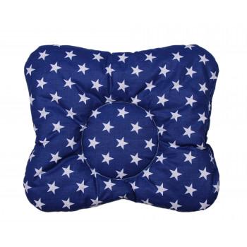Детская ортопедическая синяя подушка Звезды 32*34 см
