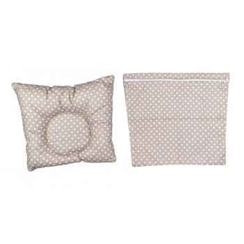 Ортопедическая кофейная подушка с наволочкой 25*30 см грудничку