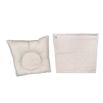 Ортопедическая полосатая подушка 25*30 см с наволочкой на молнии для малышей