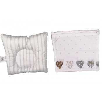 Ортопедическая детская подушка с наволочкой на молнии 25*30 см