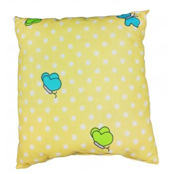 Детская желтая подушка размер 33*38 см Бабочка