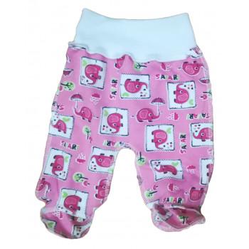 Теплые розовые ползунки 62 размера на девочку от 1 месяца