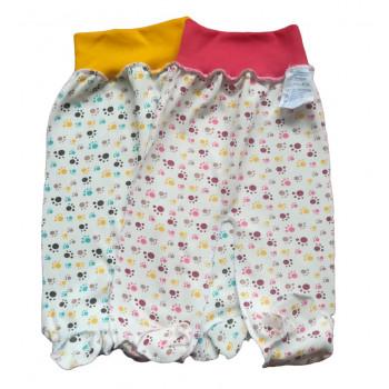 """Байковые ползунки 56 62 68 74 размеры """"Лапки"""" для девочек"""