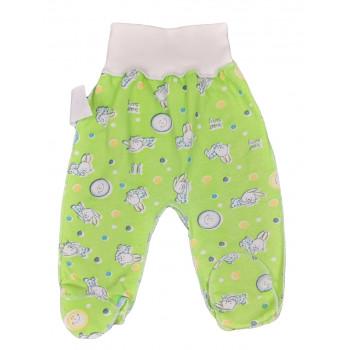 Байковый зеленые ползунки с наружными швами 56 и 62 размеры для новорожденных Колобок