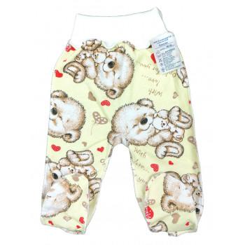 Теплые ползунки 56 62 68 74 размеры из байки для малышей от 0 до года With Love