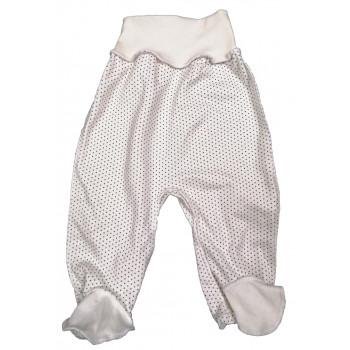 Ползунки молочные унисекс для малышей (интерлок) Горошик