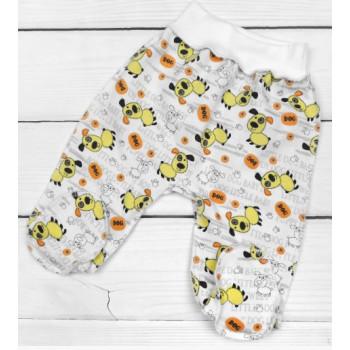 Теплые ползунки для детей от 0 до 3 месяцев, ткань футер, размеры 56