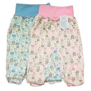 """Тонкие из кулира ползунки для новорожденных мальчиков и девочек """"Винни"""" 56,62,68,74 размера"""