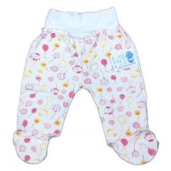 Ползунки из футера 56 62 размеров для новорожденной девочке