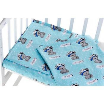 Постельный набор в кроватку для новорожденного мальчика
