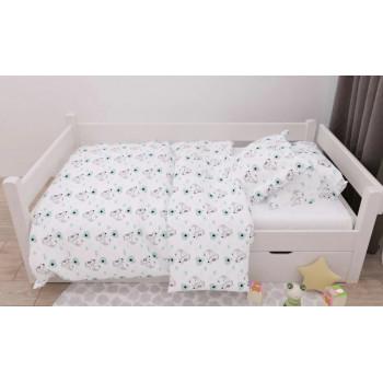 Постельное белье в детскую кроватку (наволочка 40*60 см, простынь и пододеяльник 110*140)