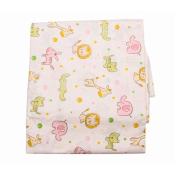 Постельное белье Мультяшные Зверюшки Молочный Бязь для малышей в кроватку