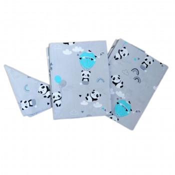 Постельный набор в детскую кроватку для новорожденных Панда