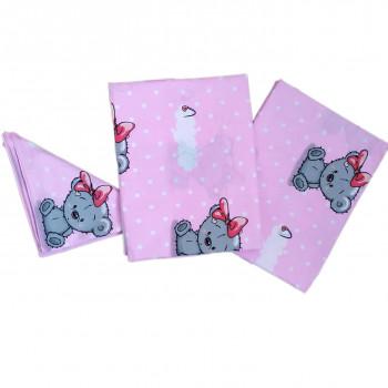 Постельное белье Розовое Мишутка для новорожденных девочек