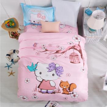 Детское постельное белье Хелло Китти, сатин, полуторное