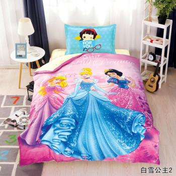 Детское постельное белье с принцессами, сатин, полуторка