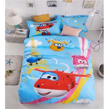Детская постельно белье с мультяшками Супер Крылья, сатин, полуторное
