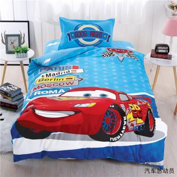 Детская постель полуторная для мальчика Тачки