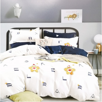Фланелевый постельный набор полуторный
