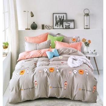 Детский постельный набор полуторный из фланели