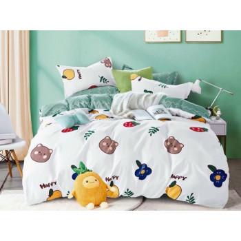 Детский комплект постельного белья Happy, фланель, полуторка