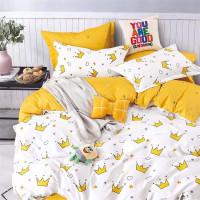 Детское постельное белье с короной, фланель, полуторное
