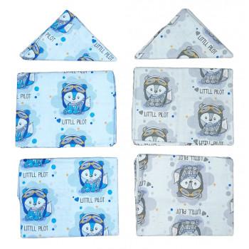 Постельное белье для новорожденных мальчиков в кроватку Little Pilot