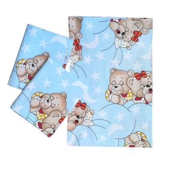 Постельный набор в кроватку для новорожденных. Ткань бязь 100% хлопок