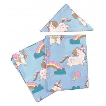 Постельный комплект в детскую кроватку Единорожки