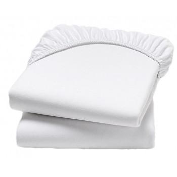 Непромокаемая белая простынь на резинке махровая 120*60 см размер