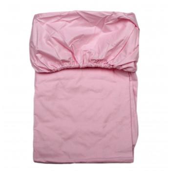 Простынь на резинке Розовая 120*60 см Бязь