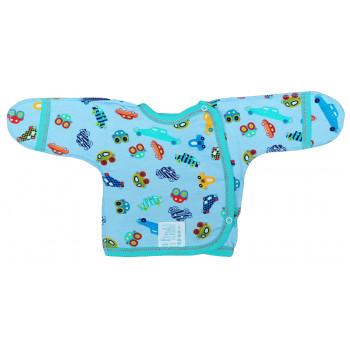 Байковая голубая распашонка на мальчика. 56 62 размеры