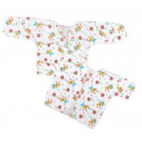 Ситцевые распашонки в роддом с коротким рукавом для новорожденных