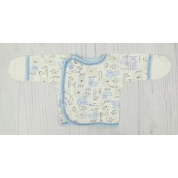Распашонка 62 размера Интерлок с наружными швами для мальчиков 1 2 3 месяца