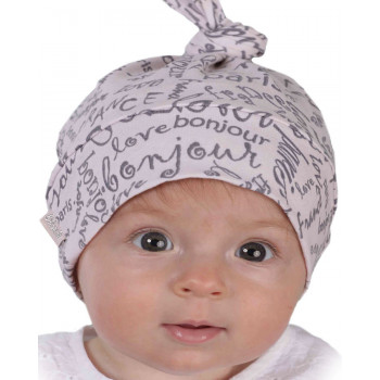 Тонкая шапочка с хвостиком на девочку от 9 месяцев 44-46 и 46-48 см обхват