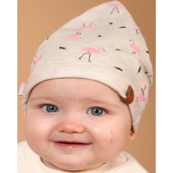 Трикотажная шапочка 44-46 и 46-48 см обхват на девочку