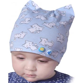 Детская тонкая шапочка 46-48 см обхват