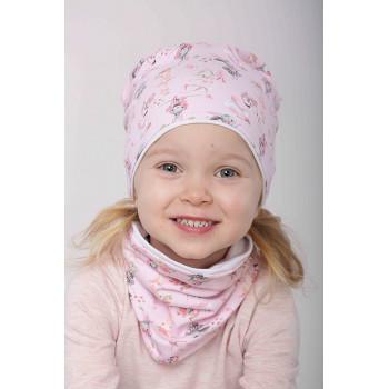 Весенняя 48-50 и 50-52 см обхват шапочка с хомутом для девочек 2-3-4 лет