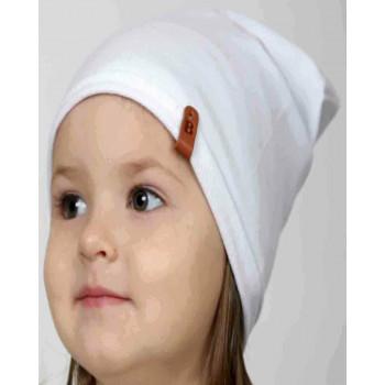 Детская молочная шапочка тонкая 46-48 и 48-50 см обхват