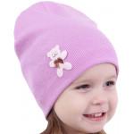 Демисезонные шапочки для девочек на весну-осень