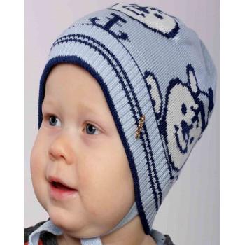 Демисезонная (акрил 50%, шерсть 50%) шапочка 48-50 см обхват для мальчиков