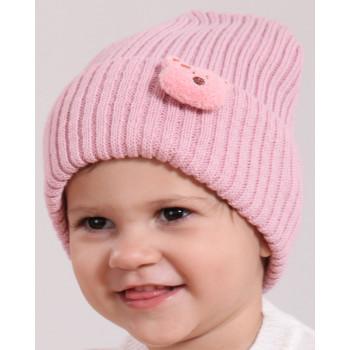 Детская шапка шерстяная на девочку 48-50 см