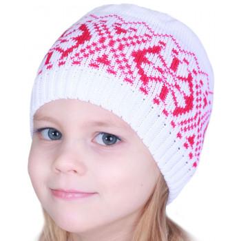 Детская вязаная шапочка 52-54 см обхват демисезонная