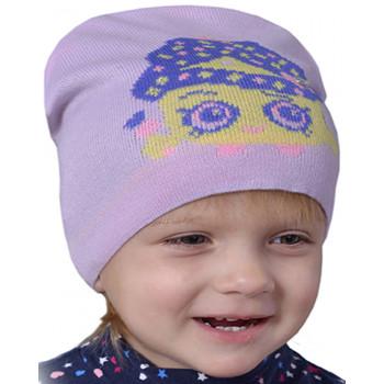 Весенняя фиолетовая шапка 48-50 см обхват для девочек