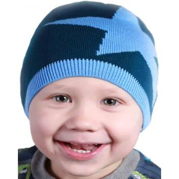 Весенняя шапочка 50-52 см обхват на мальчика 3-4 лет