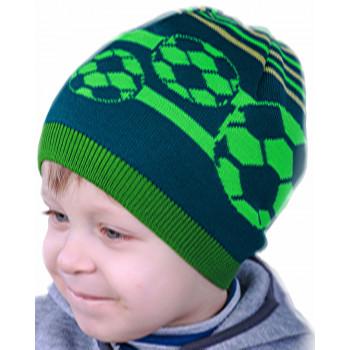 Весенняя футбольная шапочка 52-54 см обхват на мальчика 4-6 лет
