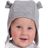 Шапочка на весну с завязками и ушками для малышей 1-12 месяцев